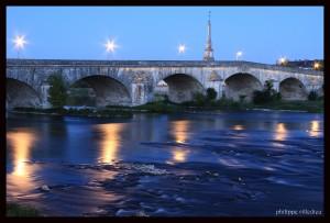Pont Gabriel, Blois. Stage photo nuit. Cours photographie Blois