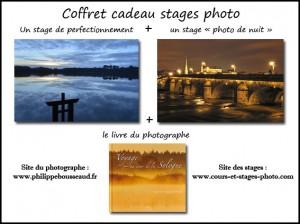 """coffret cadeau n°4 : un stage de perfectionnement + un stage """"photo de nuit"""" + un livre : 195 € (valeur au détail : 217 € )"""