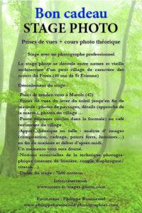 bon cadeau cours photo St Etienne