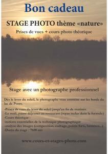 Bon cadeau stage photo Rouen