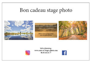 bon cadeau stage photo Auvergne
