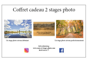 bon cadeau 2 stages photo Auvergne
