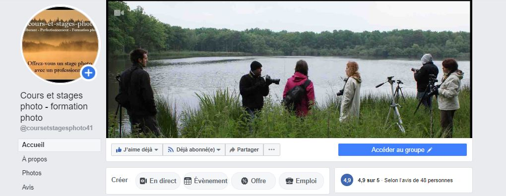 page Facebook cours-et-stages-photo
